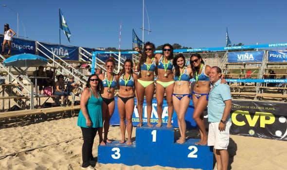 47 duplas participaron en tercera fecha del  Circuito de Vóleibol Playa 2018: