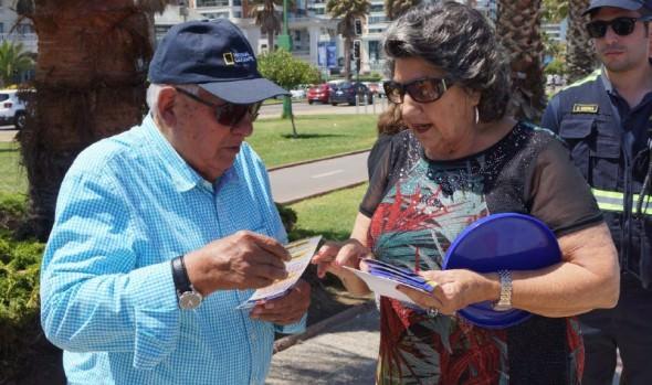 Autoridades llaman a turistas que visitan Viña del Mar a colaborar en la prevención y a denunciar robos