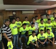 Selección de fútbol sub 15 de  Forestal que representará a la región en campeonato nacional fue despedida por alcaldesa Virginia Reginato