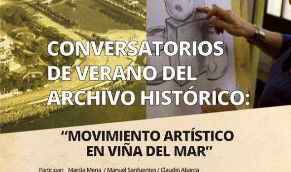 CONVERSATORIO DE VERANO ABORDA LOS MOVIMIENTOS ARTÍSTICOS SURGIDOS EN VIÑA DEL MAR