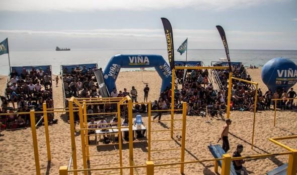Un centenar de competidores participó en torneo nacional de calistenia en Viña del Mar