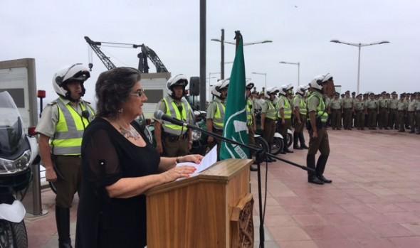 Alcaldesa Virginia Reginato destaca llegada de contingente de recambio para el plan de seguridad estival de Carabineros