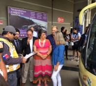 Autoridades hacen un llamado a utilizar el sistema establecido de buses para un viaje seguro y cómodo