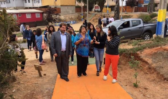 Sendero ecológico inauguró alcaldesa Virginia Reginato para Cecosf Las Palmas de Forestal