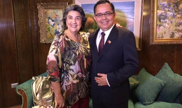 Futuro intendente de la V región se reunió con alcaldesa de Viña del Mar, Virginia Reginato