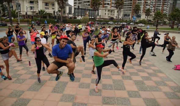 En gloria y majestad retornaron al borde costero de Viña del Mar, las mañanas fitness