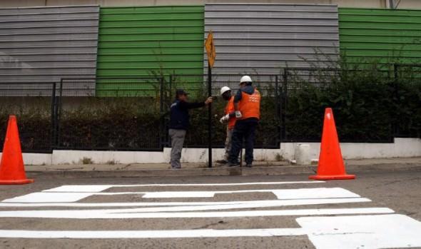 Municipio de Viña del Mar refuerza plan de demarcación vial para brindar seguridad de estudiantes