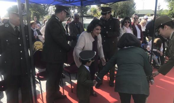 Comunidad de G. Carreño homenajeó a Carabineros en su 91º aniversario, con la presencia de alcaldesa Virginia Reginato