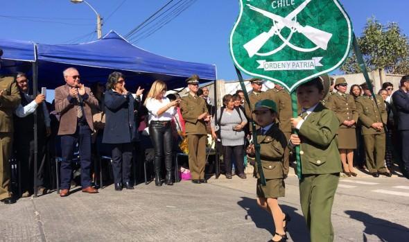 Reñaca Alto rindió homenaje a Carabineros de Chile en nuevo aniversario institucional