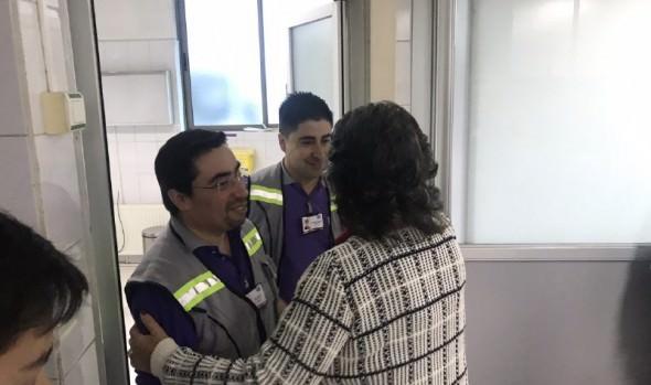Hospitalizados por accidentes laborales recibieron visita de alcaldesa Virginia Reginato y autoridades en el Día del Trabajador