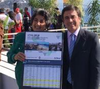 Alcaldesa Virginia Reginato y alcalde de Los Andes comparten resultados de índices de calidad de vida