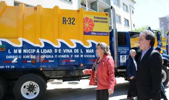 Llamado a pagar oportunamente primera cuota de aseo en Viña del Mar realizó alcaldesa Virginia Reginato