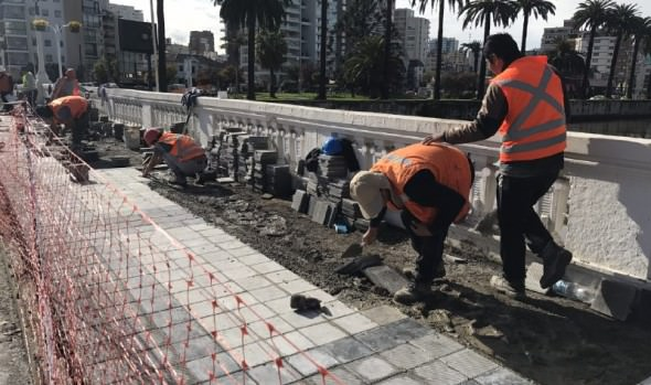 Municipio de Viña del Mar mejora imagen y seguridad en puentes con recambio de baldosas
