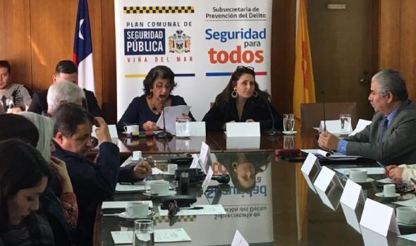 Consejo Comunal de Seguridad pública de Viña del Mar presentó nuevos proyectos para mejorar iluminación en barrios de la ciudad