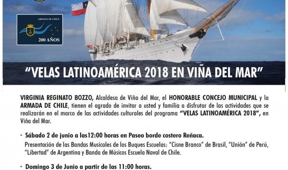 """Invitan a la comunidad de Viña del Mar a participar de actividades de """"Velas Latinoamérica 2018"""""""