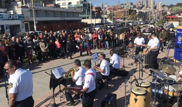 Bandas de Armadas de Perú, Argentina, Brasil y Chile realizaron intervención musical en Reñaca