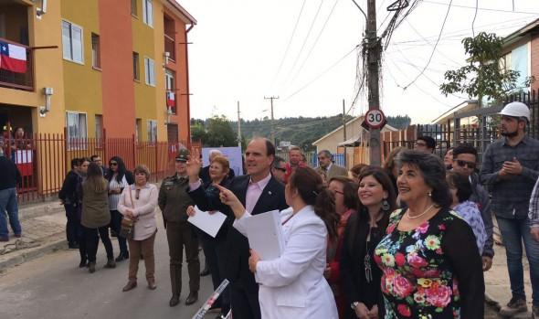 Proyecto habitacional de Glorias Navales que fue reconocido por ONU-Hábitat fue inaugurado por alcaldesa Virginia Reginato y Ministro de Vivienda
