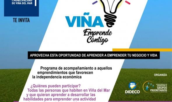 Municipio de Viña del Mar inicia nuevo proyecto para apoyar a emprendedores de la comuna