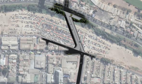 Mejoramiento vial que generará puente Los Castaños fue destacado por alcaldesa Virginia Reginato e Intendente Regional