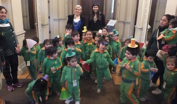 Niños de Jardín Infantil conocen el Palacio Rioja  gracias a programa de la Municipalidad de Viña del Mar