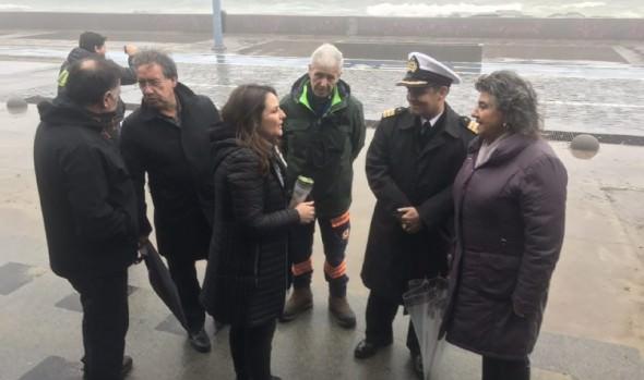 Normal funcionamiento ante sistema frontal, informó alcaldesa Virginia Reginato
