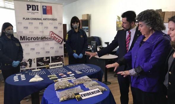 Operativo de PDI que logró la detención de conocida traficante de drogas destacó alcaldesa Virginia Reginato