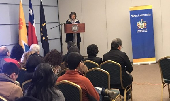 Seminario Internacional sobre el cambio climático inauguró alcaldesa Virginia Reginato en Viña del Mar
