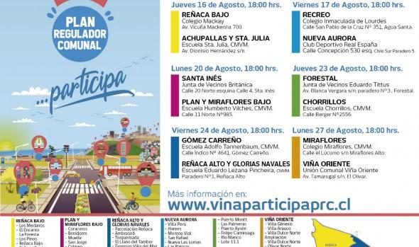 Municipio de Viña del Mar difunde glosario para comunidad que participará en talleres del Plan Regulador Comunal