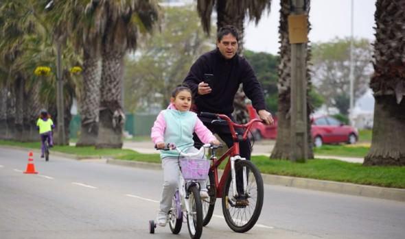 Comenzaron las Cicletadas Familiares 2018 en Viña del Mar