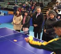 """Masiva participación en campeonato inclusivo de tenis de mesa """"Juan Rubio Figueroa"""" que inauguró alcaldesa Virginia Reginato"""