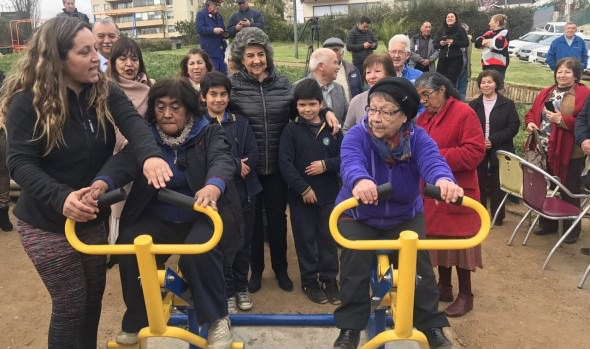 """Municipio de Viña del Mar implementa """"Gimnasios en tu barrio"""" en plazas de la comuna"""