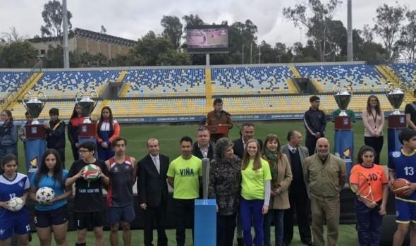El inicio de XIV Olimpiada escolar y IX Olimpiada interempresas y servicios públicos, encabezó Alcaldesa Virginia Reginato
