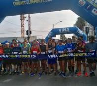 Aficionados al running disfrutaron en Viña del Mar de la cuarta fecha de las Corridas familiares