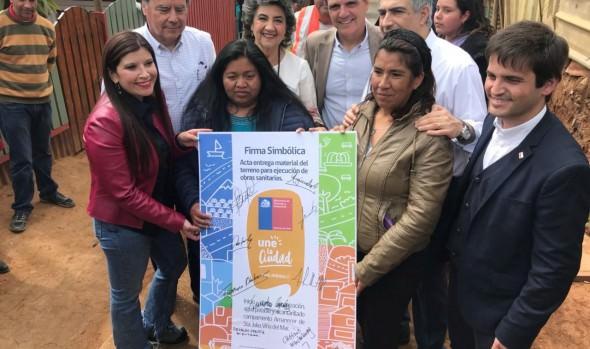 Campamento Amanecer de Santa Julia inicia proceso de urbanización con instalación de redes de agua potable y alcantarillado
