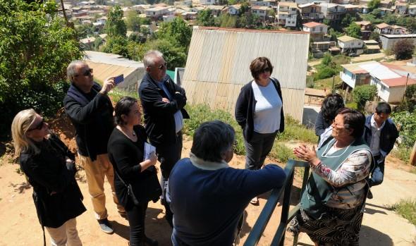 Representantes de Unión Europea conocieron trabajo preventivo ante emergencias que implementa municipalidad de Viña del Mar