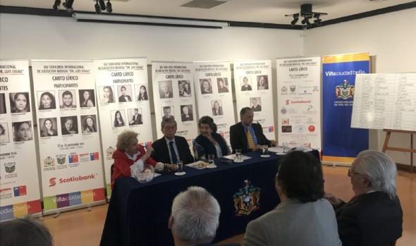 """Cantantes de 8 países participarán en 45º concurso internacional de ejecución musical """"Dr. Luis Sigall"""""""