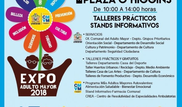 "Municipio de Viña del Mar invita a la comunidad a la 3ª ""Expo Adulto Mayor 2018"""