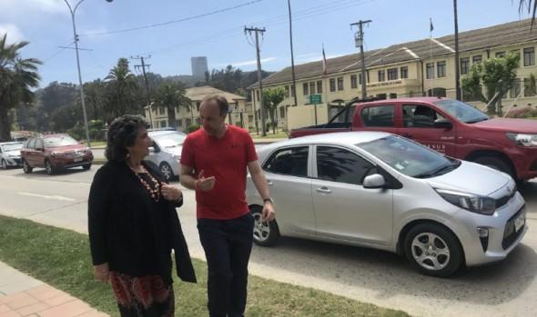 Seremi de Transportes y alcaldesa Virginia Reginato hacen llamado a usuarios de calles a respetar nueva Ley de convivencia de modos de transporte vial