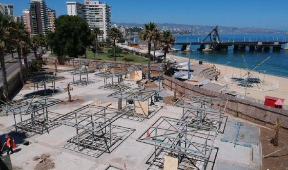 Municipio de Viña del Mar trabaja en habilitación de Plaza de artesanos