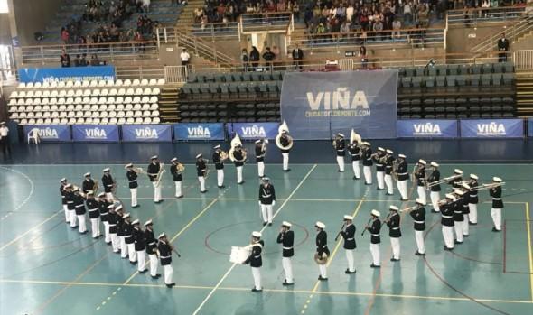 Viña del Mar adhirió a celebración de 200 años de la Armada con Tatoo de bandas militares