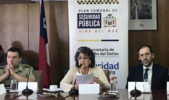 Positivo balance de la gestión 2018 del Consejo Comunal de Seguridad Pública de Viña del Mar realizó alcaldesa Virginia Reginato
