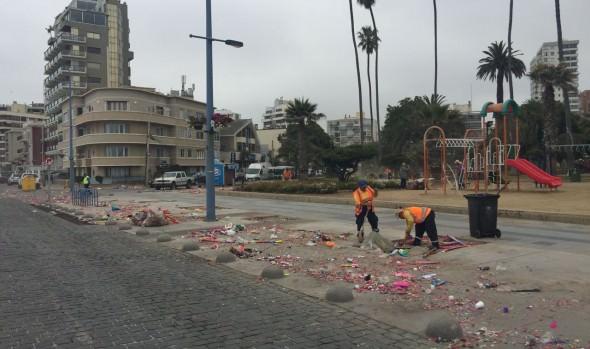 400 personas  trabajarán en  limpieza de calles y borde costero en Viña del Mar en Año Nuevo