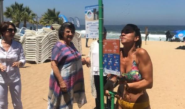 En Reñaca se implementó la primera ducha ecológica con agua de mar en el país