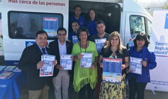 En Viña del Mar partió gira nacional de verano del Info Bus ciudadano y del Civil Móvil