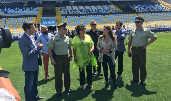 Autoridades inspeccionaron Estadio Sausalito por inicio de Torneo de Verano Fox Sport