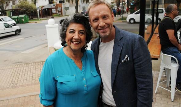 Alcaldesa Virginia Reginato dio afectuosa bienvenida a animador del Festival de Viña del Mar