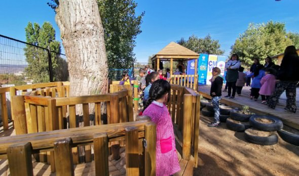 Párvulos de escuela Villa Independencia cuentan con nuevo espacio diseñado en base a sus opiniones