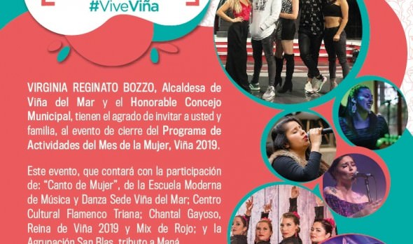 Con gran actividad familiar Municipio de Viña del Mar finaliza Mes de la Mujer 2019