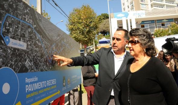 Municipio de Viña del Mar iniciará obras de repavimentación de principales calles de Recreo