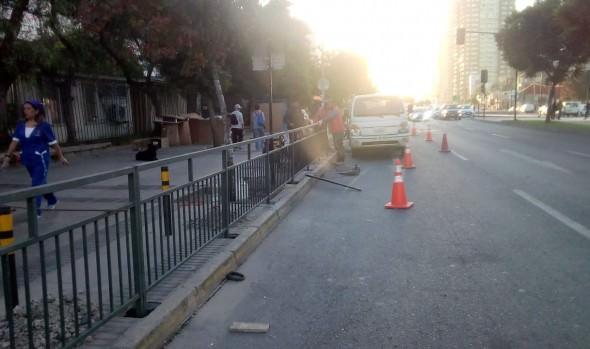 Municipio de Viña del Mar instala defensas camineras en Troncal Urbano